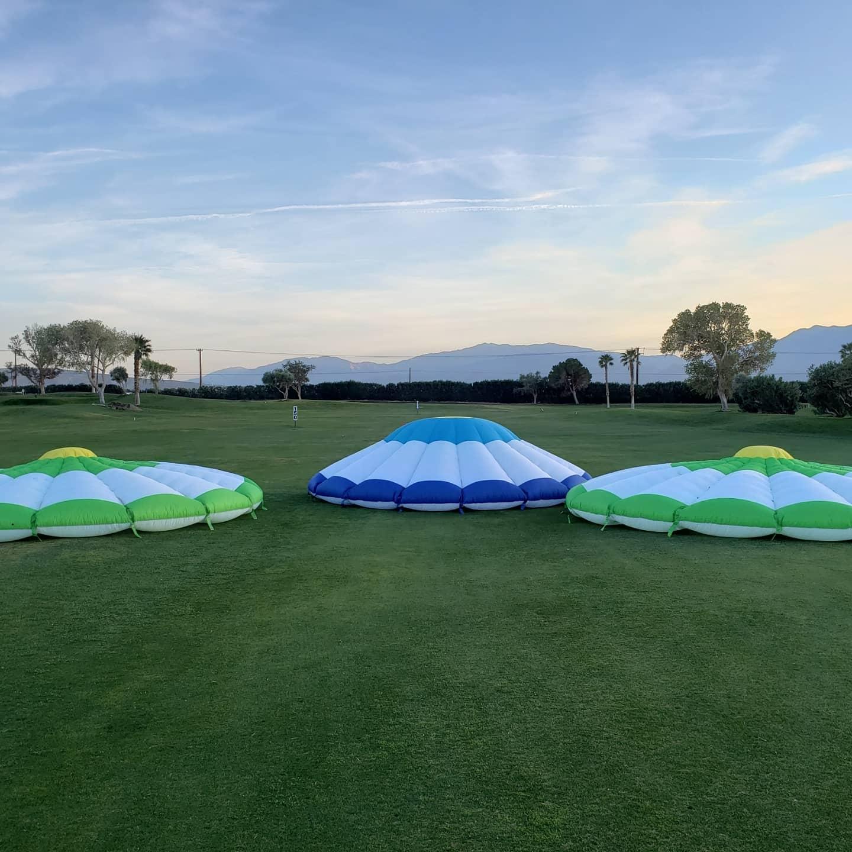 Golf range targets