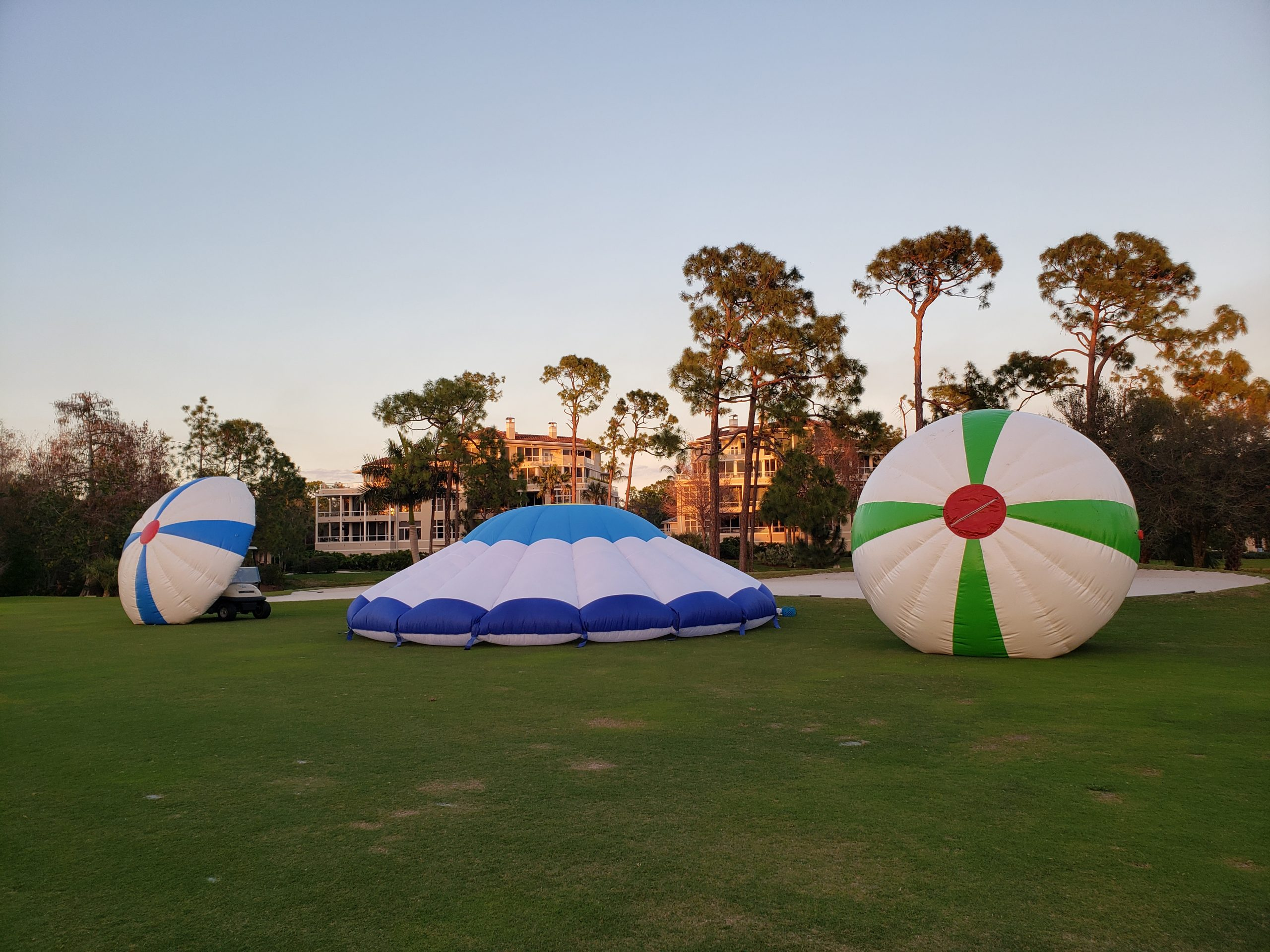 Golf party targets during the day